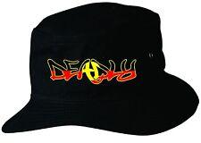 Deadly Aboriginal Flag Hat Black Large/ExLge 59cm Indigenous Flag  Bucket Hat
