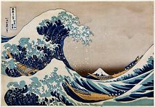 The Great Wave - Hokusai - Japanese Art Print - 17x24 Vintage FREE SHIPPING