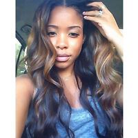 Ombre Full Lace Wig Brazilian Remy Human Hair Wigs Lace Front Wig Highlight Wavy