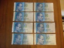FINLANDE     8 billets de 10 kymmenen markkaa  1986