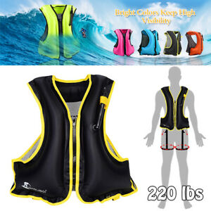 UK Adults Portable Inflatable Life Jacket Snorkel Vest Lightweight Buoyancy Vest