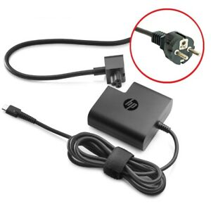 NEW HP 45W USB-C G2 Power Adapter Laptop Charger 1HE07AA#ABB **EU POWER CABLE**