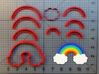 Rainbow and Clouds 266-A019 Cookie Cutter Set