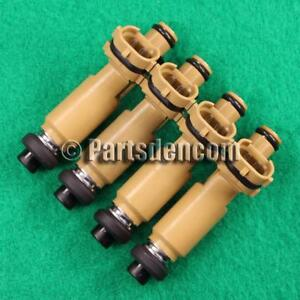 4 FUEL INJECTORS FITS TOYOTA CELICA ST184 5SFE 2.2L 4 CYL 1994 DENSO INJECTOR