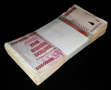 5 Billion Zimbabwe Dollars x 100 Banknotes Bundle AA AB 2008 100PCS Currency Lot