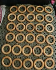 40mm Wooden Curtain Rings x 30