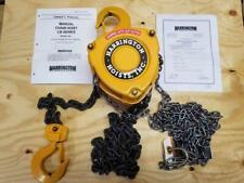 New Harrington Cb020 8 2 Ton 8 Ft Lift Manual Hand Chain Hoist Fast Ship