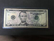 5 dollar star bill 2006 series IA 00771362*