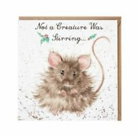 Wrendale Designs - 'Not a creature was stirring' Christmas card