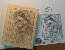 Angel with flute rubber stamp P9