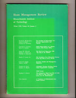 SLOAN MANAGEMENT REVIEW 1978 n.2,MASSACHUSETTS INSTITUTE OF TECHNOLOGY