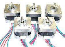 5 Nema 17 Minebea Stepper Motors Mill Robot RepRap Makerbot Prusa 3D Printer