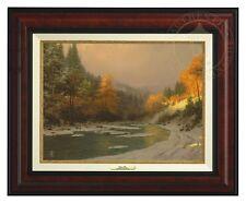 Thomas Kinkade - Autumn Snow – Canvas Classic (Burl Frame)