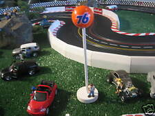 (3) 76 GAS SIGNS + EXTRA BALL 1/32 SLOT CAR ACCESSORIES SCALEXTRIC FLY CARRERA