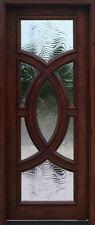 Mahogany Exterior door olympus Baroque glass 3'0 x 6'8