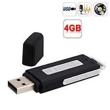 Micro Espion Clé USB Enregistreur Dictaphone 4GB 4GO Modèle Noir
