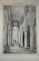 GRANDE Litho SAINT NECTAIRE AUVERGNE PUY de DOME 1840 SAGOT CLERMONT FERRAND