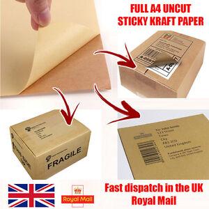 Kraft Shipping Labels Matt A4 Brown Sticker Label Address Paper Sheet Supplies