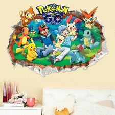 Cute Pikachu Go Pokemon Mural Wall Sticker Decal Kids Child Room Decor Removable