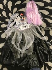 halloween gothic princess bride costume kids fancy party 3-4 years girls  dress