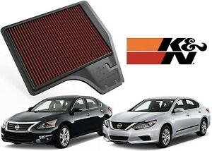 K&N 33-2478 Engine Air Filter Replacement For 2013-2018 Nissan Altima L4 2.5L