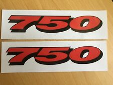 Suzuki GSXR 750 Stickers Motorbike Motorcycle Vinyl  Decals x2 @ 152 x 28mm