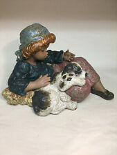 """collectible vintage porcelain figurines Lladro #2207 """"What a Day!"""" girl w/dog"""