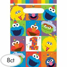 Sesame Street 1st Birthday Party Supplies ELMO LOOT BAGS Pack Of 8