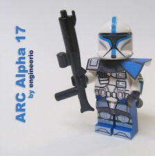 LEGO Custom -- ARC Alpha 17 -- Star Wars Clone Trooper Minifigure rex cody 75012