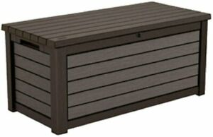 165 Gallon Weather Resistant Resin Deck Storage Container Box Outdoor Patio Gard