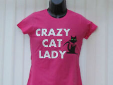 Cats Cotton Crew Neck Basic T-Shirts for Women