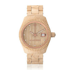 "AB Aeterno ""Alba"" 100% Maple Wood Swiss Quartz Movement Swarovski Women's Watch"
