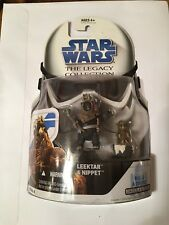 STAR WARS THE LEGACY COLLECTION LEEKTAR AND NIPPET EWOKS WITH BUILD A DROID HTF