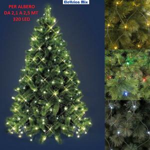 luci per albero di natale a led 320 luce fredda calda multicolore mantello rete