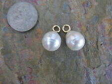 14 KT Yellow Gold & Paspaley South Sea Pearl Add to Hoop Earring Charm.......NEW