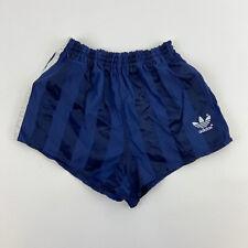 "Vintage Adidas Shiny Nylon Shorts Ibiza Gym Running Size 26/8"" D152    A58"