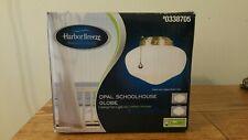 Harbor Breeze Brass Opal Schoolhouse Globe Ceiling Fan Light Kit Glass 0338705