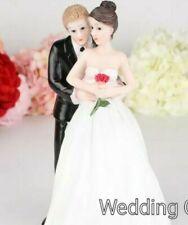 Bride and Blonde Groom Wedding Cake Topper New PORCELAIN & FASTPOST