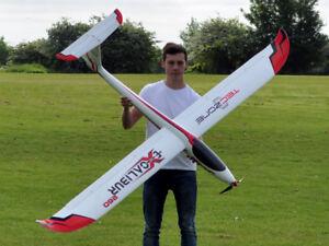 TecZone Excalibur 260 Radio Control Model Giant 2.6m Glider - Plug and Play
