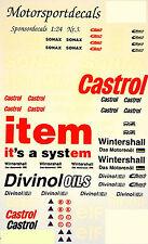 Motorsport Patrocinador Calcomanía No. 3 Castrol Sonax item 1:24