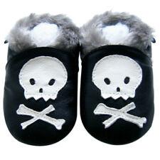 Free Shipping Littleoneshoes SoftSole Leather Baby ChildrenSkullFur Shoe 30-36M