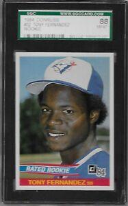 1984 Donruss Rated Rookie #32 Tony Fernandez RC Graded SGC 88 NM/MT 8 Blue Jays