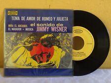 """JIMMY WINSER TEMA DE AMOR DE ROMEO Y JULIETA MEXICAN 7"""" EP PS EASY LISTENING"""