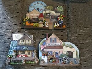 3 BUILDINGS COUNTRY LANE BY MARLENE WHITING FAIR, FAMERS MARKET AND CABINS CANOE