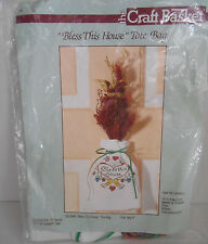 """The Craft Basket Counted Cross Stitch Kit CB-3549 """"Bless This House"""" Tote Bag"""