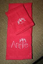 """""""Annie"""" RaggedyAnn 1 Red KITCHEN  towel&1 DISH cloth w/white embroideryTheBigOne"""