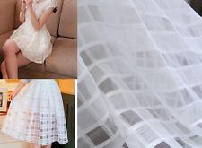 Lace Fabric White Organza Beautiful Dress Fabric Wedding Fabric 1 yard