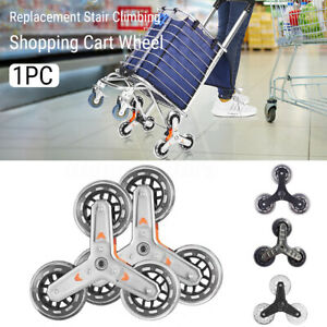 Shopping Cart Wheel Stair Climbing Barrow Laundry Trolley Tyre Replacement