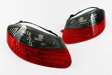 Porsche Boxster 96-04 LED Crystal Smoked Red Rear Lights Set Pair Left Right