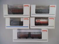 5x Märklin Güterwagen H0 46033 035 036 037 44401(3258)